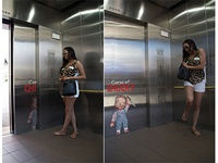Chucky Elevator Ad