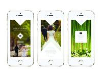 Bright Light Wedding Photography Mobile Design