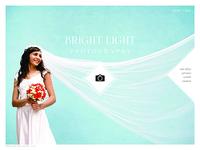 Bright Light Wedding Photography Web Design