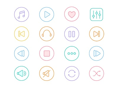 Music Icons  Free Giveaway  ai download flat icons colour icons line icons free icons set music icons giveaway freebie