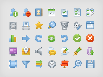 Icons for CRM crm icons iconka control management system relationship