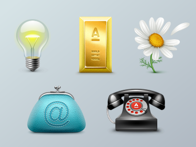 Icons for Alfa-Bank  alfabank lamp electrics flower camomile gold phone money purse icon iconka bank