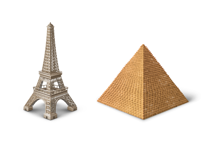 Touristic Icons icon tourist eiffel tower pyramid egypt france