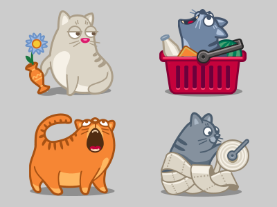 Kitty kitty cat cat meow flower rascal cart toilet paper buy food icon iconka