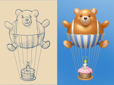 Dribbble teddy