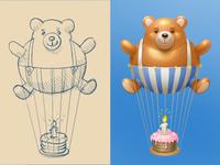 Teddy Baloon for MirTesen.ru
