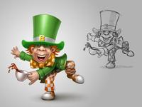 Mad Hatter on St Patricks Day for Vkontakte network