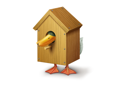 Tough life duck house home icon vkontakte wood beak tail nail icons