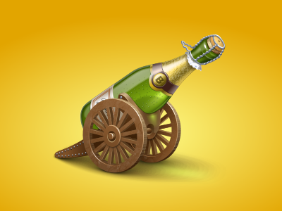 Champagne Cannon cannon champagne bottle wheels alcohol icon virtual gift icons