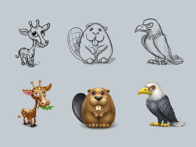 Virtual gifts for spaces.ru eagle giraffe beaver virtual gifts icon iconka icons
