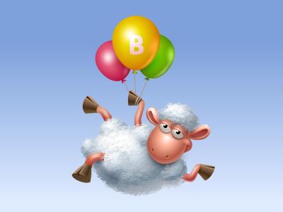 Floating Sheep sheep baloons icon iconka icons vkontakte virtual gift