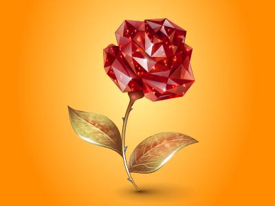 Ruby Rose ruby rose virtual gift icon iconka gem diamond gold flower icons