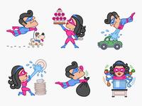 Superheros Everyday Life