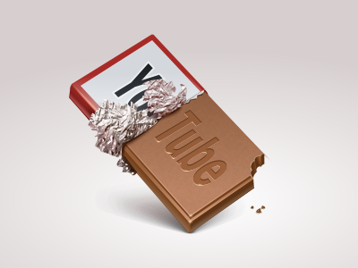 Yumtube youtube chocolate icon iconka bar