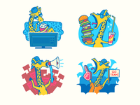 Stickers for WeRally App