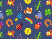 Feeling Lucky Seamless Pattern