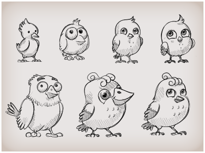 Birds tryouts for game development bird birds icon iconka game ipad ipod chick chicken