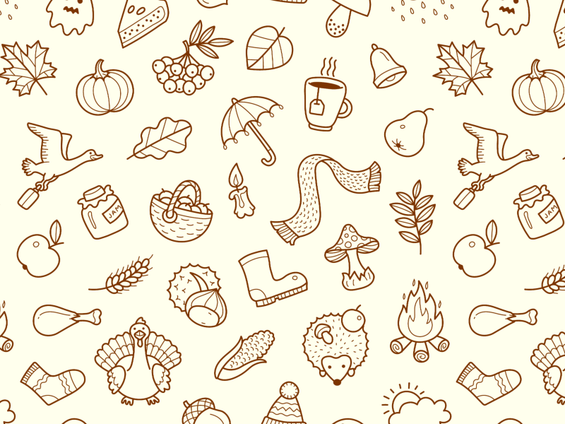 Dribbble autumn pattern