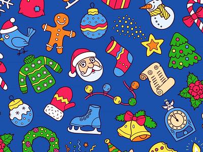 Christmas Pattern season winter holiday santa seamless tile pattern christmas