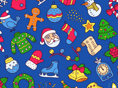 Christmas Pattern season winter holiday santa seamless tile pattern christmas