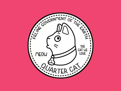 Cat Quarter cartoon pet animal character gif video animation quarter coin money cat