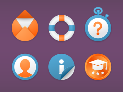 Round icons for Simpson Strong-Tie Company icons contact mail education round account profile faq support help icon