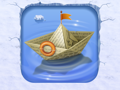 iBoat boat paper paperboat flag bread ice rabbit bagel icon iconka