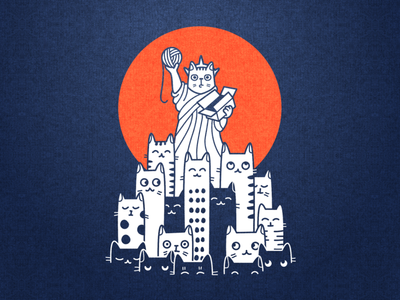 I 😻 NY logo animal pet urban nyc apparel tshirt manhattan character illustration america new york cat