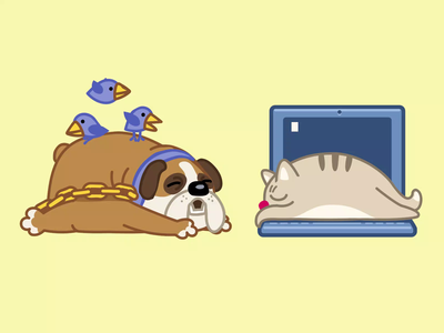 Being very busy with my beauty sleep dog character sticker pet gif animal animation cat