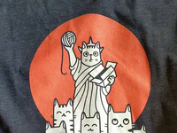 I Love Meow York Shirt illustration logo product t-shirt manhattan new york city statue of liberty pet animal new york character cat