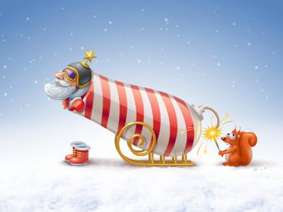 Fire! gun fire boots santa squirrel star helmet goggles icon iconks shoot sleigh xmas christmas