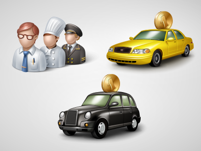Illustrations for GetTaxi website