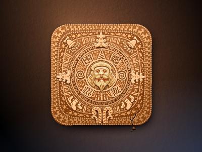 Real Maya Calendar mayan maya calendar xmas icon iconka santa christmas