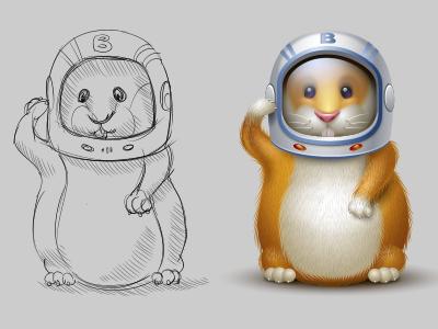 Hamstronaut hamster astronaut space nasa icon iconka