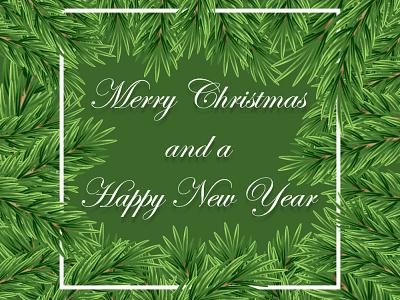 Merry Christmas tri happy new year 2021 merry xmas illustraion vector illustration design christmas card christmas