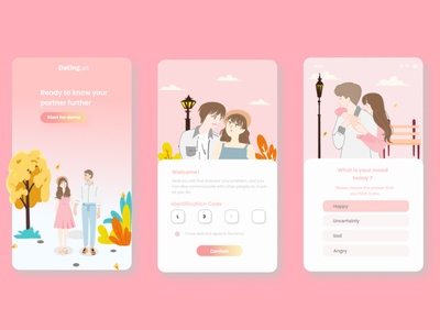 App Couple Design app design couple application couple illustration application design application typography ui uiux uiuxdesign uidesign portfolio design illustration branding