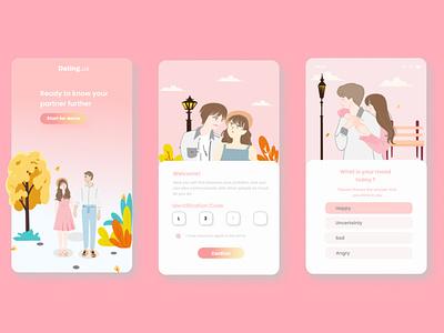App Couple Design app design couple application couple illustration application design application typography ui uiux uiuxdesign uidesign portfolio design illustration branding