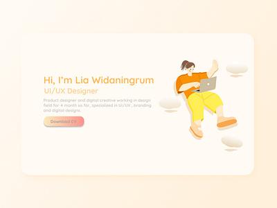 Landing Page Profile app landingpageportofolio ui webdesign landing page design uiux uiuxdesign uidesign portfolio illustration design branding