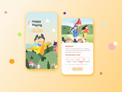 Kids Application learning app kidsapplication ui design application application design app design uiuxdesign uiux uidesign portfolio illustration design branding