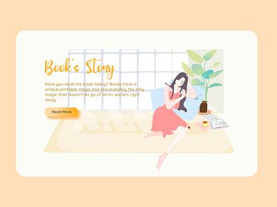 Book's Story books app uiux app design webdesign landing page design uiuxdesign uidesign portfolio illustration design branding