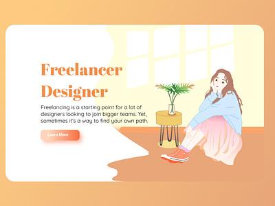 Freelancer freelance design uiux application webdesign landing page design uidesign uiuxdesign portfolio illustration design branding