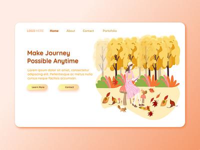 Make Journey Possible Anytime application design app design webdesign landing page design uiuxdesign uidesign portfolio illustration design branding