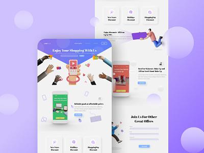 E-commerce Website 3d hero design uiux ui webdesign design branding uiuxdesign landing page design uidesign portfolio illustration