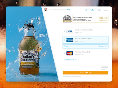 Credit Card Checkout - Daily UI 002 sketchapp checkout page inspiration orange blue eccomerce shop dailyui002 dailyui beer payment uxdesign uidesign ux uiux ui design creditcard pay checkout