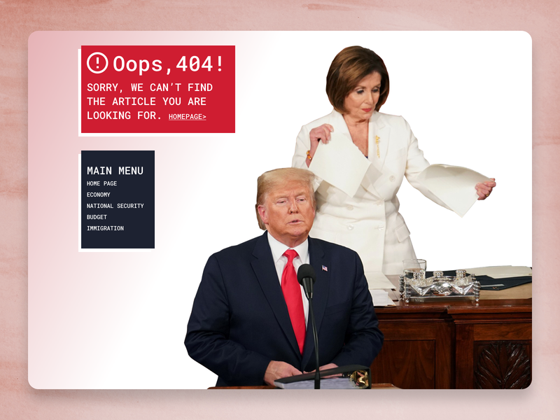 404 Page - Daily UI 008 daily ui 008 daily ui republican democrat political campaign politician politic united states president trump 404 error page 404page 404 uxdesign uiux ux ui design ui