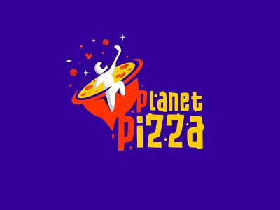 Planet Pizza. Restaurant logofolio planet branding restaurant logo planet logo