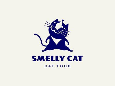 Smelly cat logofolio illustration branding food logotype cat logo