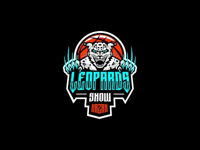 Leopards snow basketball vector ui branding logodesign logotype illustration logosmyk design logofolio logo