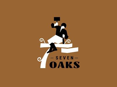 Seven Oaks carpentry ui vector illustration logotype design logosmyk logodesign logofolio branding logo