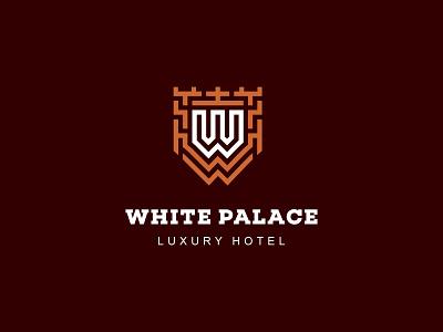 White Palace. Luxury hotel hotel . luxury hotel white palace. luxury hotel illustration logotype logosmyk design logodesign logofolio branding logo vector